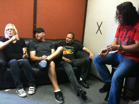 "Bloodgood chillin' in the ""green room"""