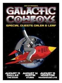 Galactic Cowboys concert poster